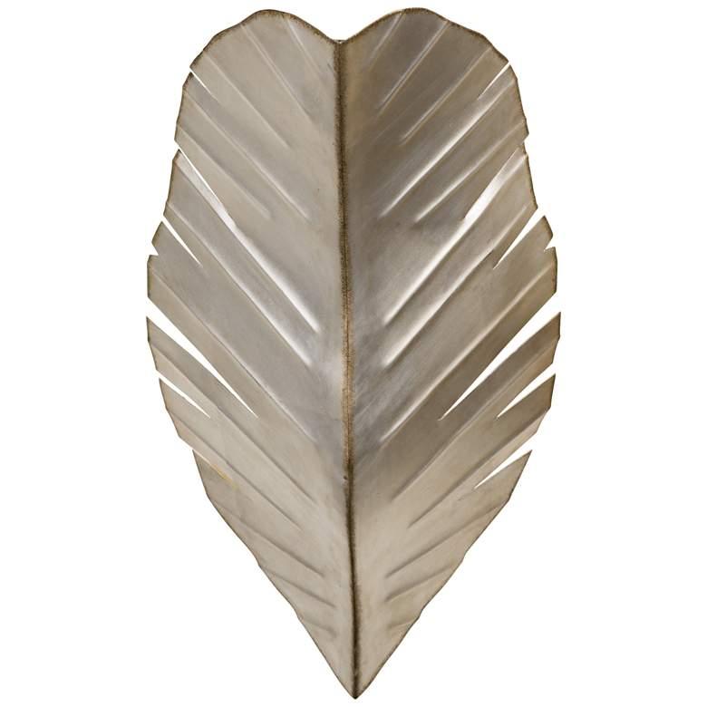 "Varaluz Banana Leaf 17"" High Tropical Silver Wall Sconce"