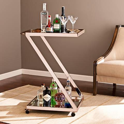 Rizer Metallic Gold Bar Cart