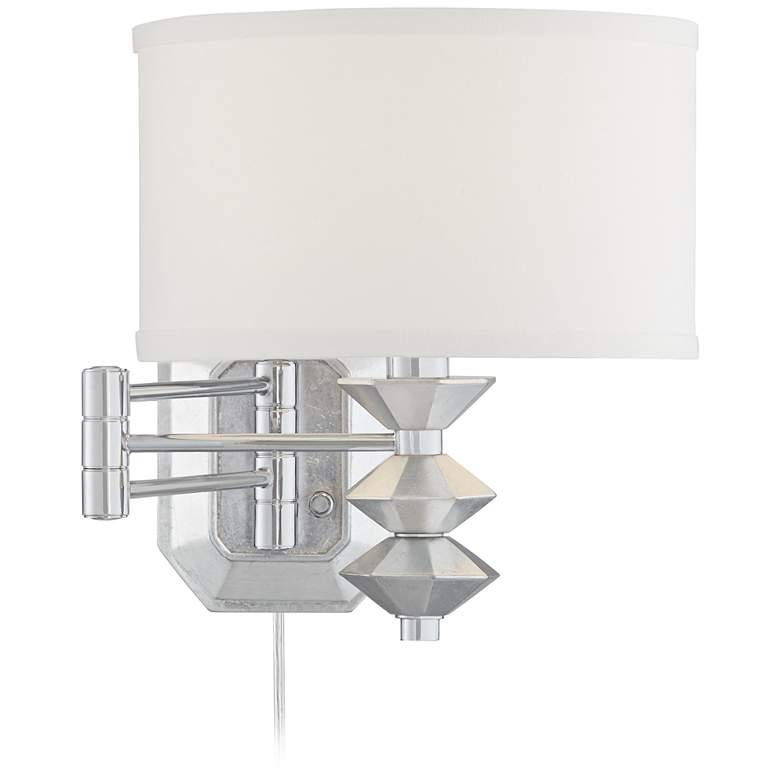 Possini Euro Currie Chrome Swing Arm Wall Lamp