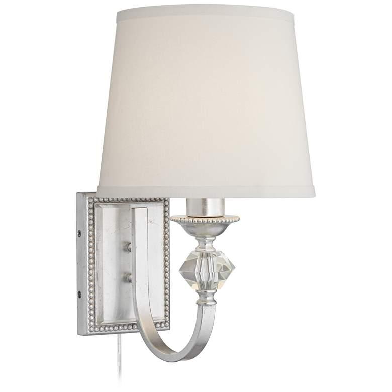 Possini Euro Galloway Silver Leaf Pin-Up Wall Lamp