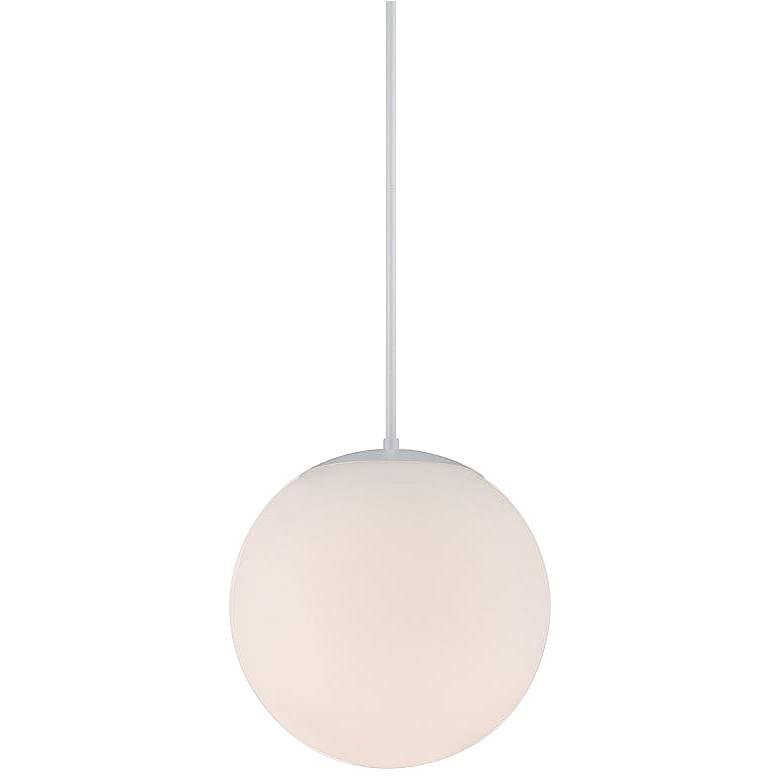 "dweLED Niveous 13 3/4"" Wide White Globe LED"