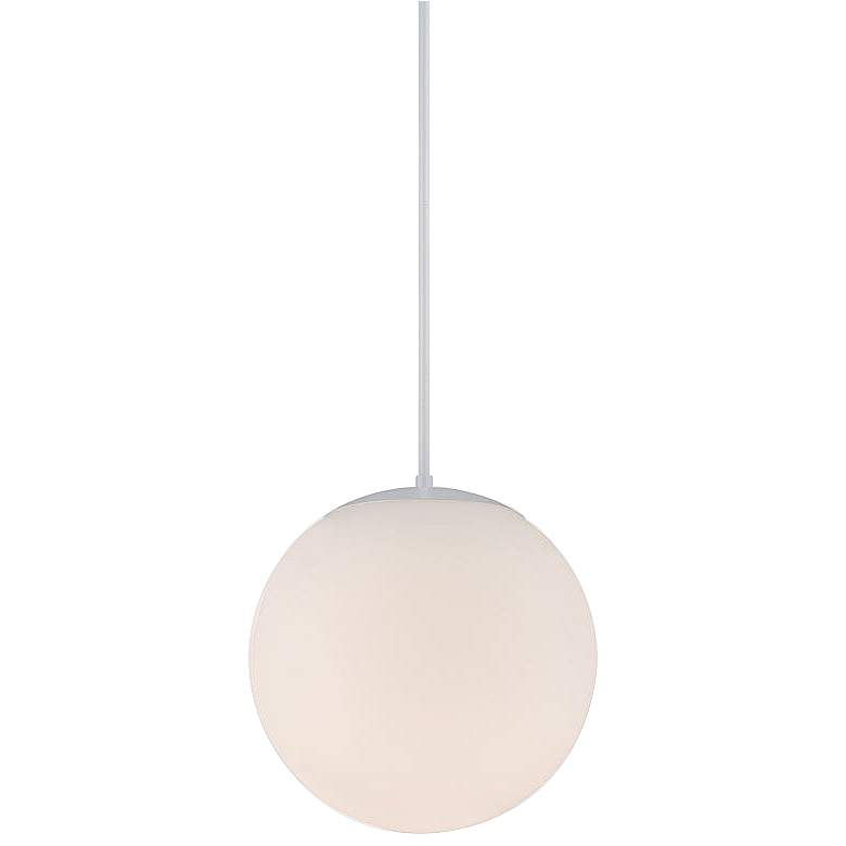"dweLED Niveous 13 3/4"" Wide White Globe LED Pendant Light"