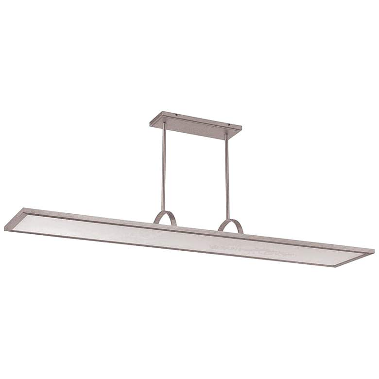 "Line 48"" Wide Aluminum LED Kitchen Island Light Pendant"