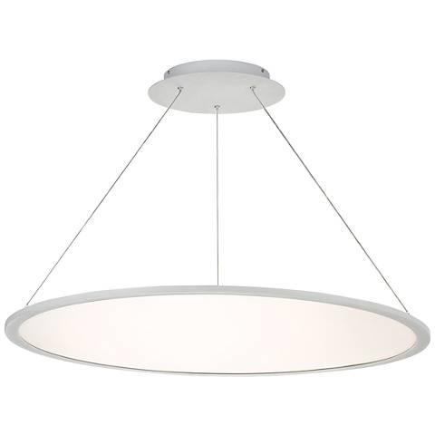 "dweLED Illusion 35"" Wide Titanium LED Pendant Light"