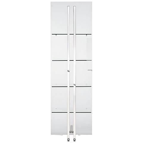 Blake Frosted Glass and Stainless Steel 4-Shelf Bookshelf