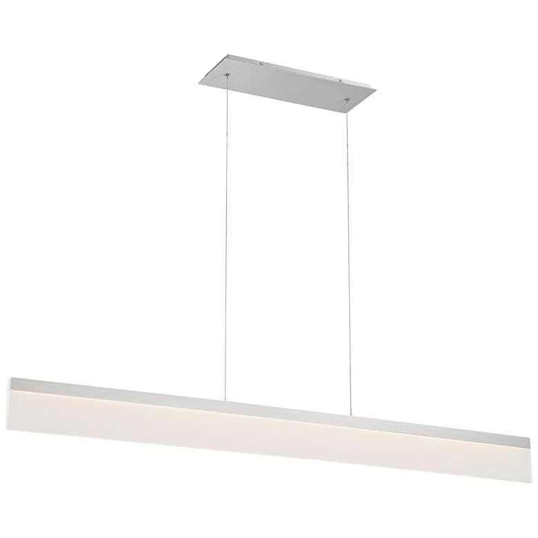 """Level 48""""W Brushed Aluminum LED Kitchen Island Light Pendant"""