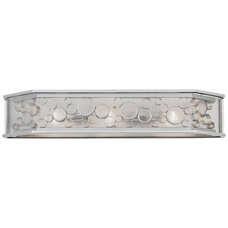 "Fascination 31 3/4"" Wide Metallic Silver 3-Light Bath Light"