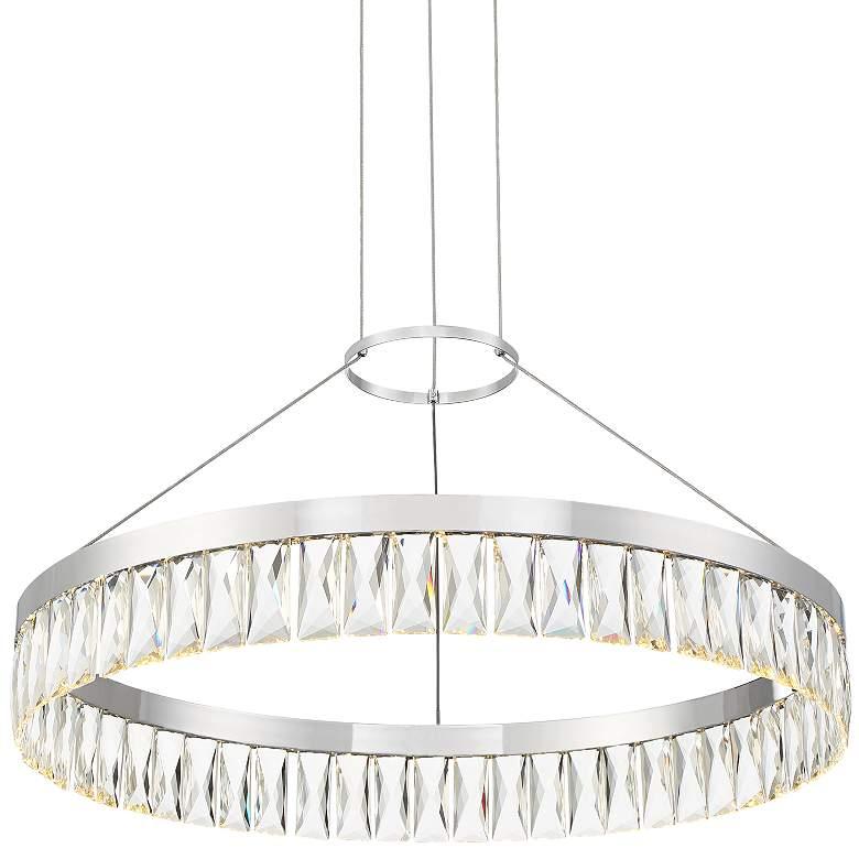 "Possini Euro Weston 23 3/4"" Wide Chrome LED Pendant Light"