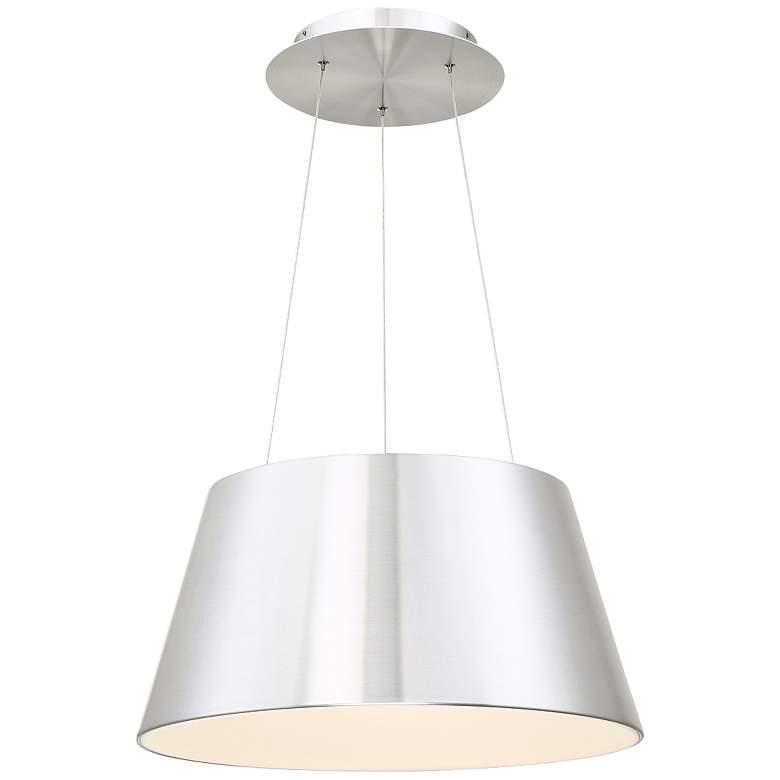 """dweLED Vida 18"""" Wide Brushed Aluminum LED Pendant Light"""