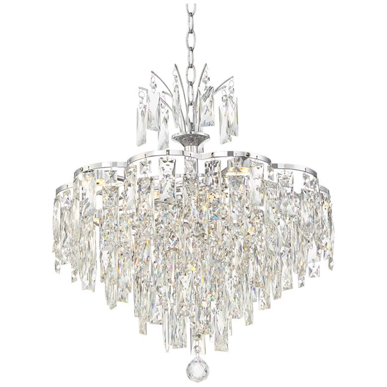 "Villette 20 1/4"" Wide Chrome and Crystal LED Pendant Light"