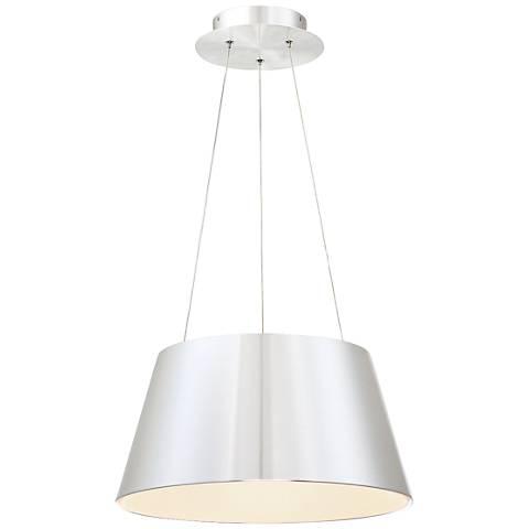 """dweLED Vida 24"""" Wide Brushed Aluminum LED Pendant Light"""