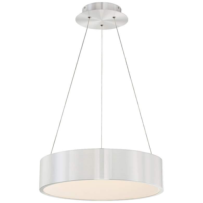 """dweLED Corso 18"""" Wide Brushed Aluminum LED Pendant Light"""