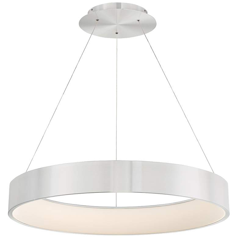 """dweLED Corso 32"""" Wide LED Ring Pendant Chandelier"""