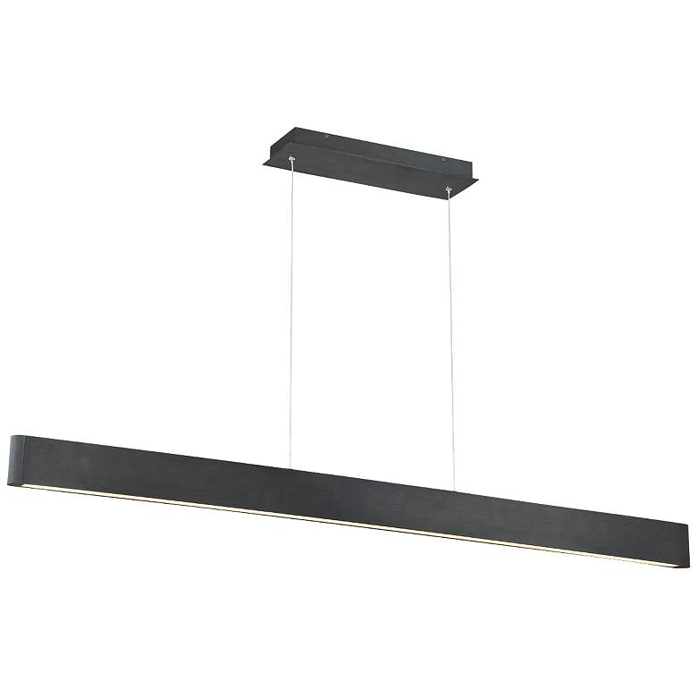 "dweLED Volo 54"" Wide Black LED Linear Pendant"