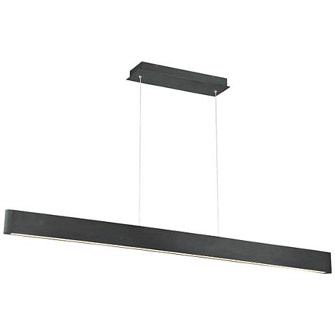 "dweLED Volo 54"" Wide Black LED Linear Pendant"