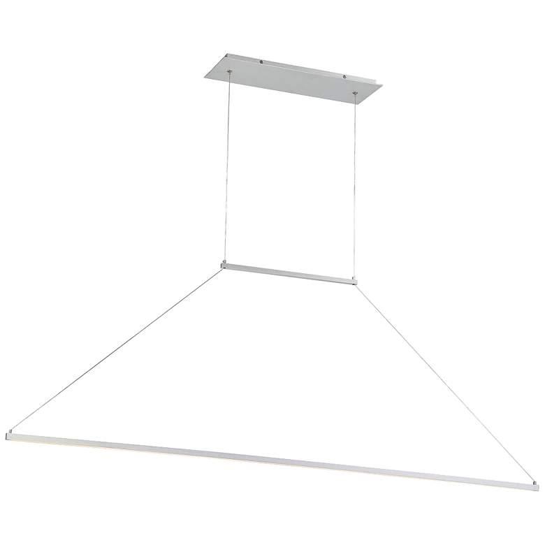 "E=MC2 47""W Brushed Aluminum LED Modern Kitchen Island Light Pendant"