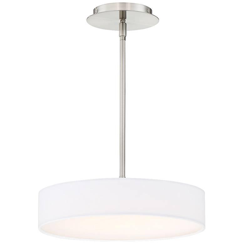 "dweLED Manhattan 14"" Wide Brushed Nickel LED Pendant Light"