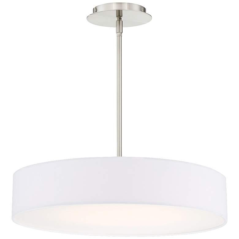 "dweLED Manhattan 20"" Wide Brushed Nickel LED Pendant Light"