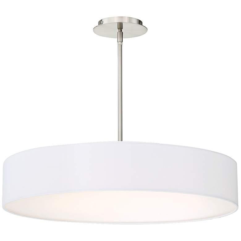 "dweLED Manhattan 26"" Wide Brushed Nickel LED Pendant Light"