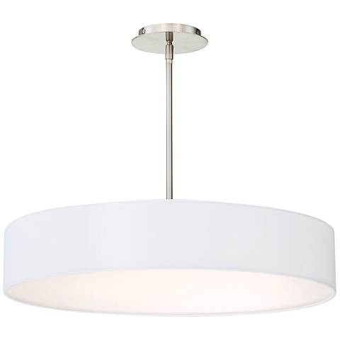 "dweLED Manhattan 26"" Wide Brushed Nickel LED Pendant Light"