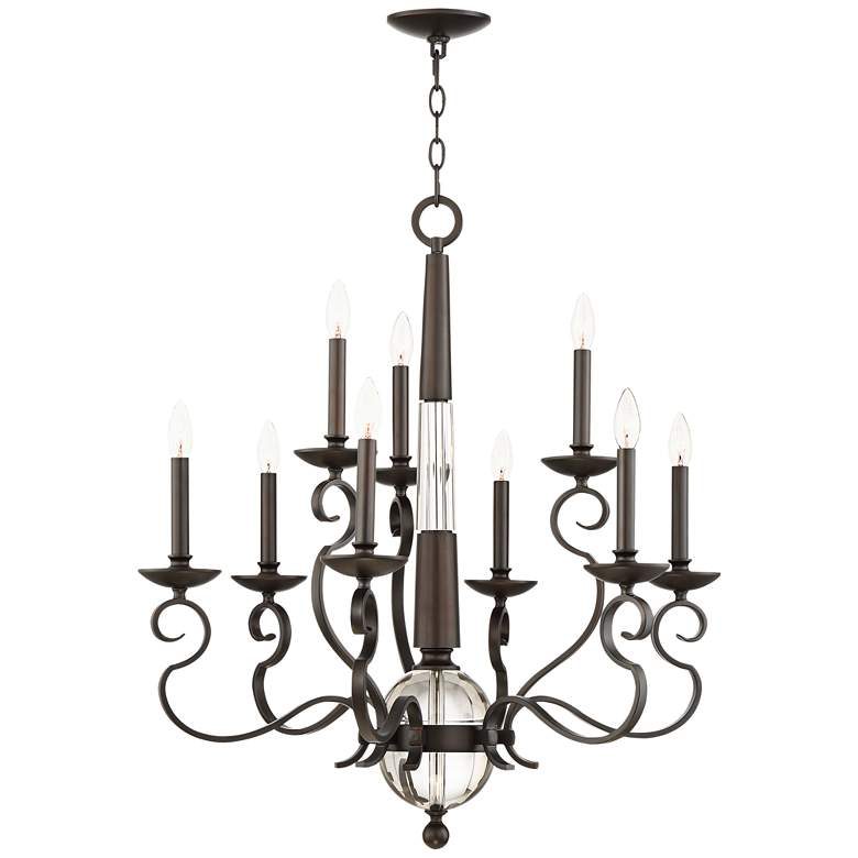 "Westbrook 29 1/2"" Wide Bronze 9-Light Chandelier"