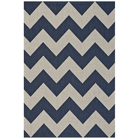 Elsinore-Chevron 4726RS475 Midnight Blue Area Rug