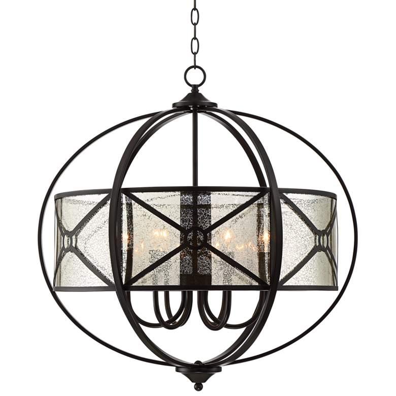 "Soledad 28"" Wide English Bronze 6-Light Chandelier"