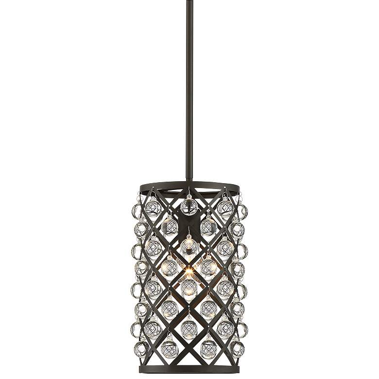 "Genter 8"" Wide Bronze and Crystal Mini Pendant"