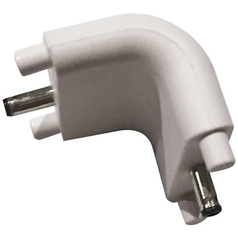 SlimEdge™ White Edge Bar to Bar Inside Corner Connector