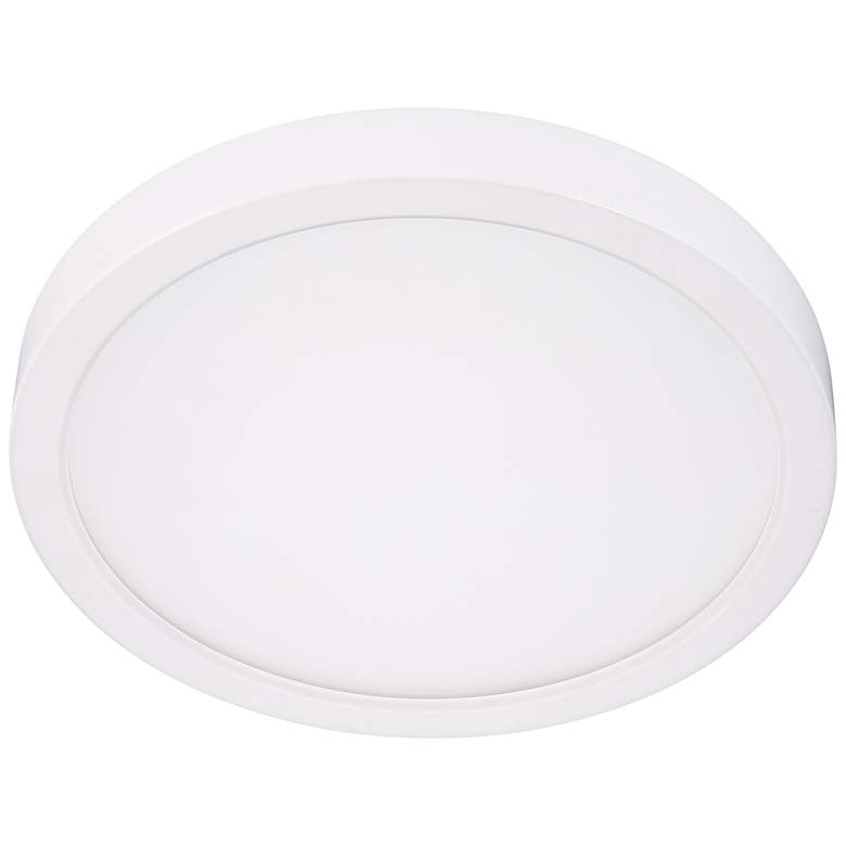 "Disk 8"" Wide White Round LED Ceiling Light"