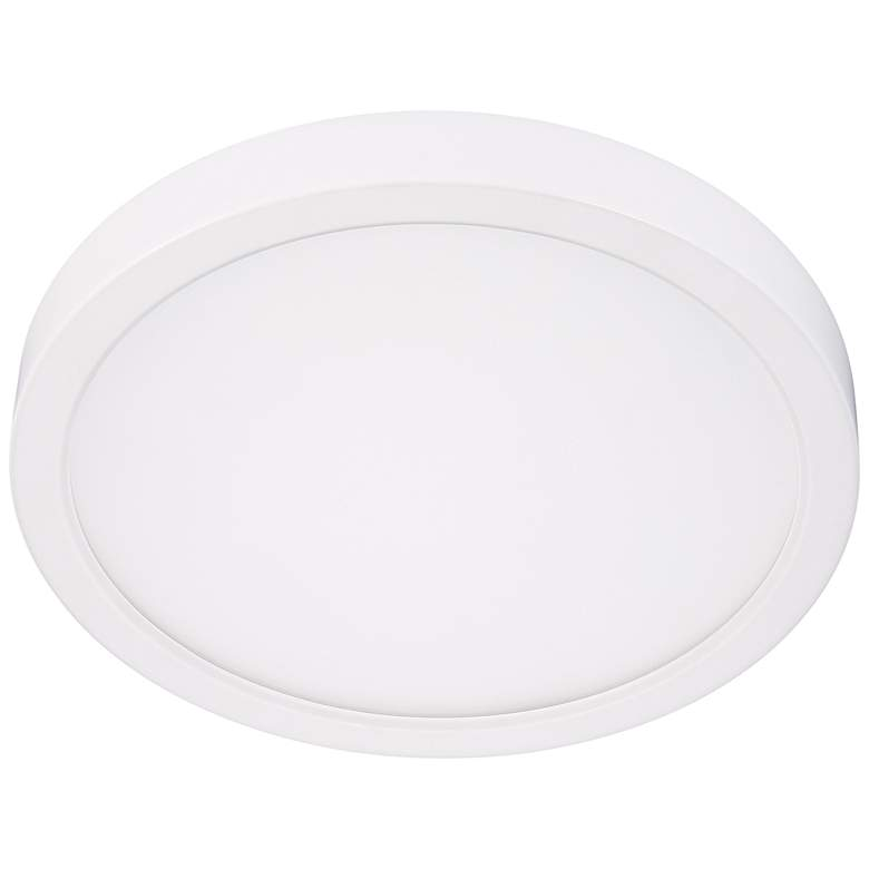 "Disk 12"" Wide White Round LED Ceiling Light"