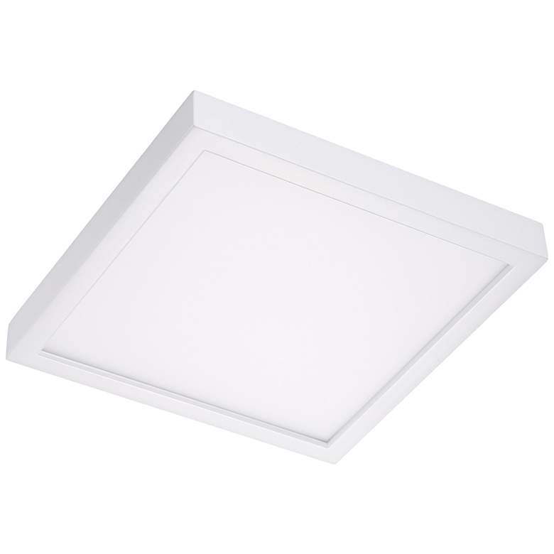 """Disk 12"""" Wide White Square Outdoor LED Ceiling Light"""