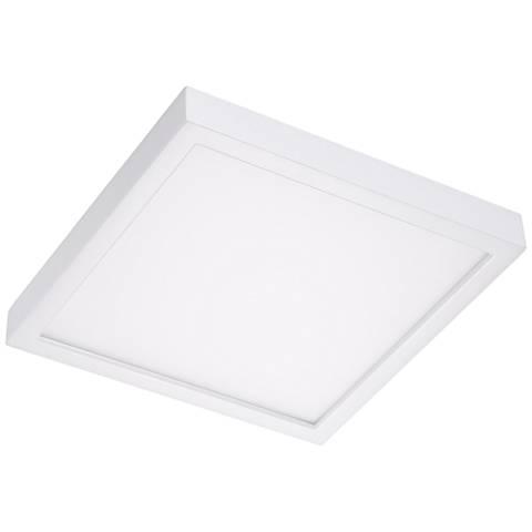 "Disk 12"" Wide White Square LED Ceiling Light"