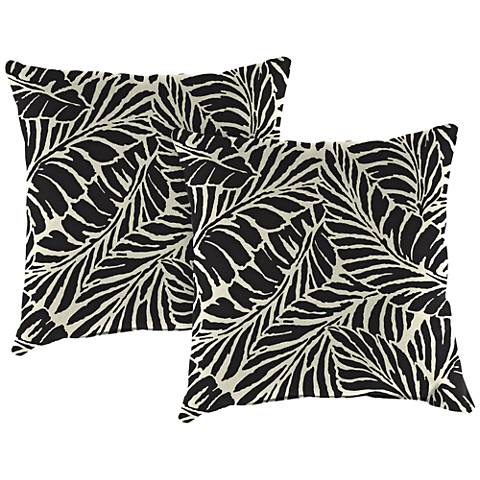 Malkus Ebony 18 Square Outdoor Toss Pillow Set Of 2 39n61