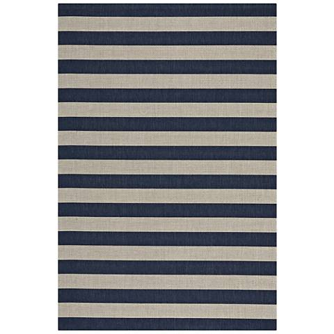 Elsinore-Stripe 4730RS475 Midnight Blue Area Rug