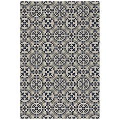 """Elsinore-Tile 4737RS475 3'11""""x5'6"""" Midnight Blue Area Rug"""