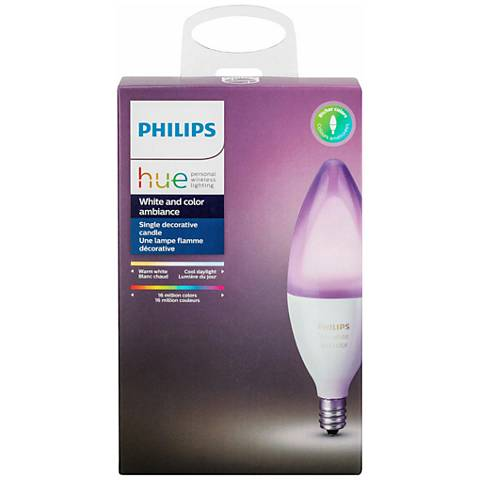 40W Equivalent Philips Hue Wi-Fi Smart 6W LED Candelabra