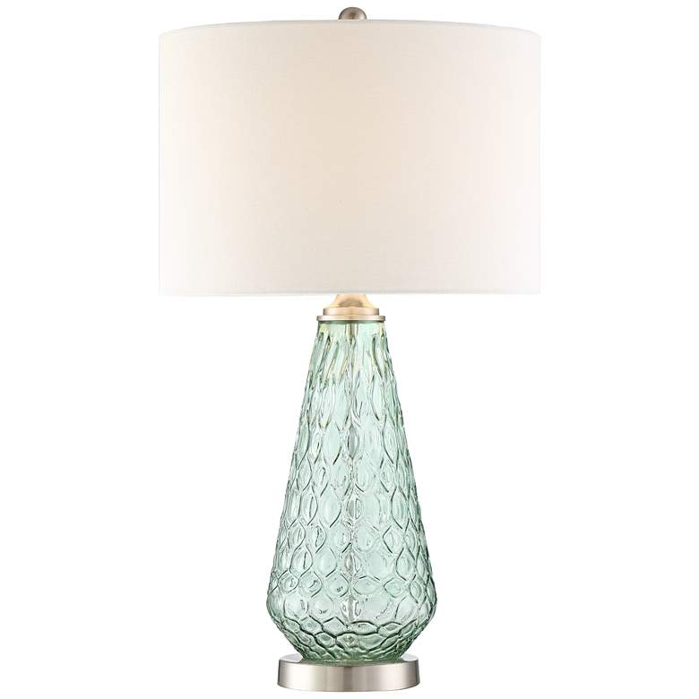 Julia Green Glass Table Lamp