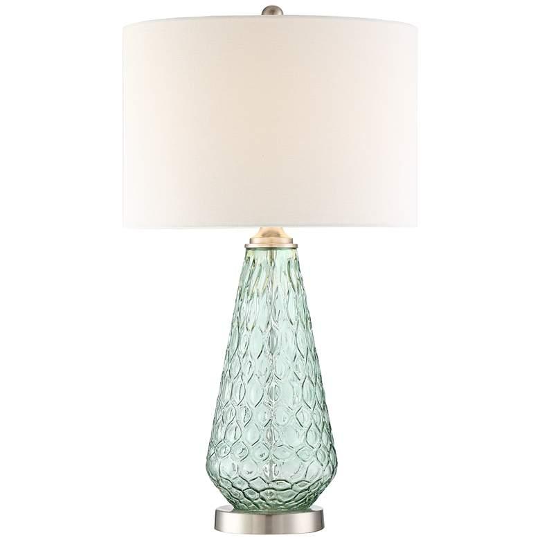 Julia Seafoam Green Glass Table Lamp