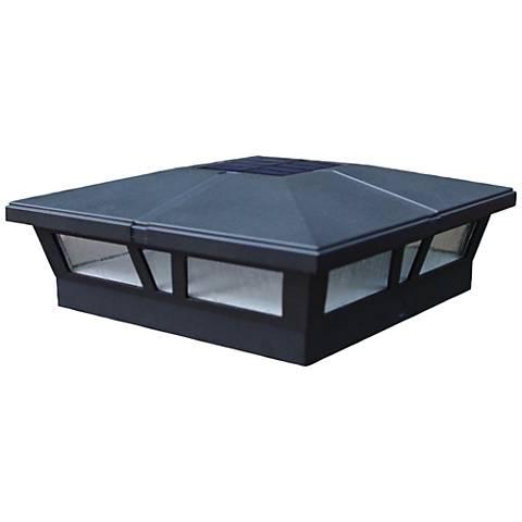 "Cambridge 2 3/4"" High Black Outdoor Solar LED Post Cap"