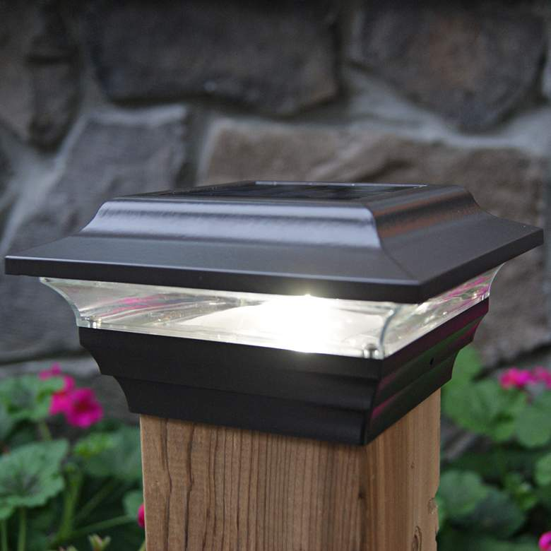 "Imperial 2 1/2"" High Bronze Outdoor Solar LED Post Cap"