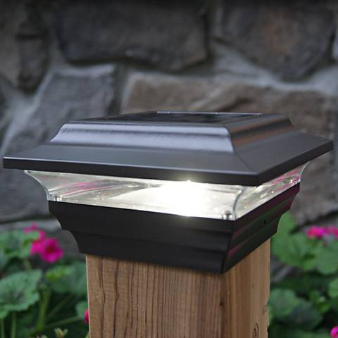 "Imperial 2 1/2"" High Bronze Outdoor Solar LED Post Cap"