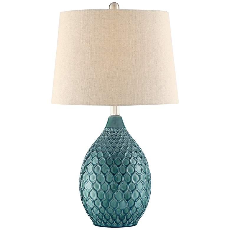 Kate Sea Foam Ceramic Table Lamp by 360