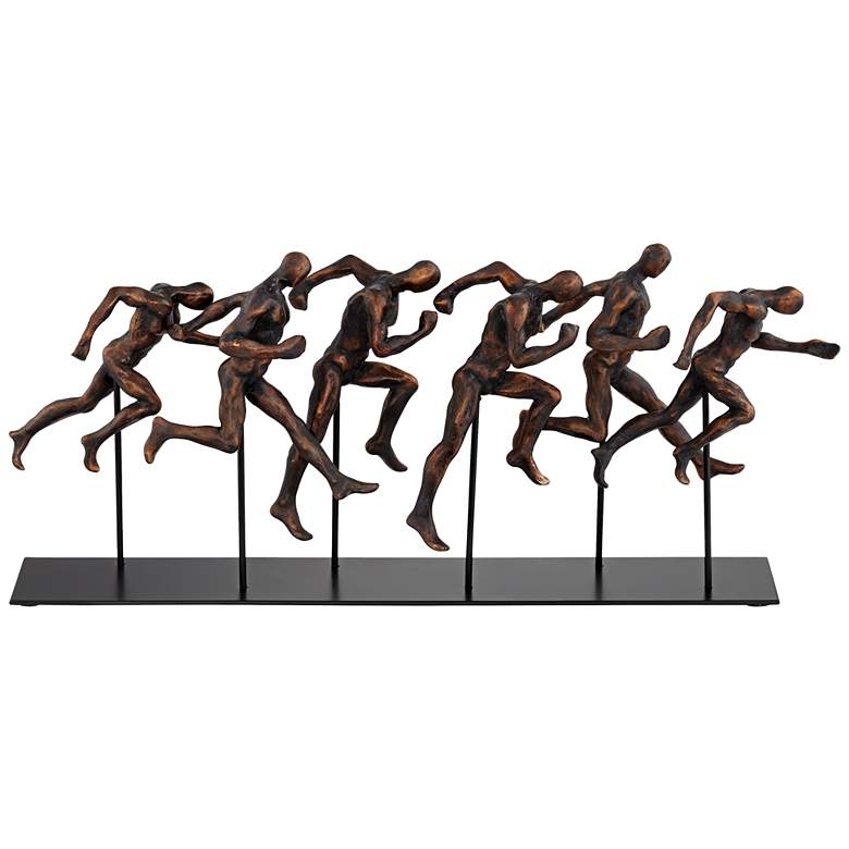 "Marathon 17 3/4"" Wide Metal Sculpture"