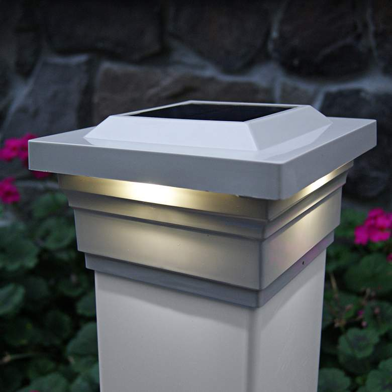 """Majestic 3 3/4"""" High Tan Outdoor Solar LED"""