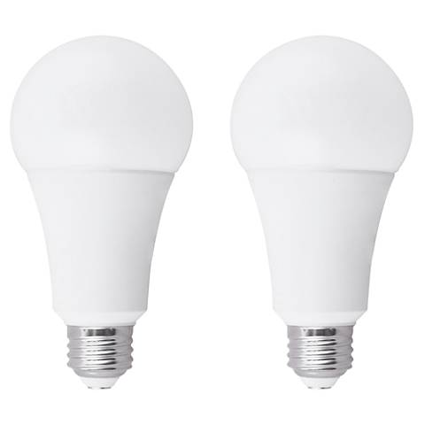 100W Equivalent Frosted 17W LED Dimmable Standard A21 2-Pack