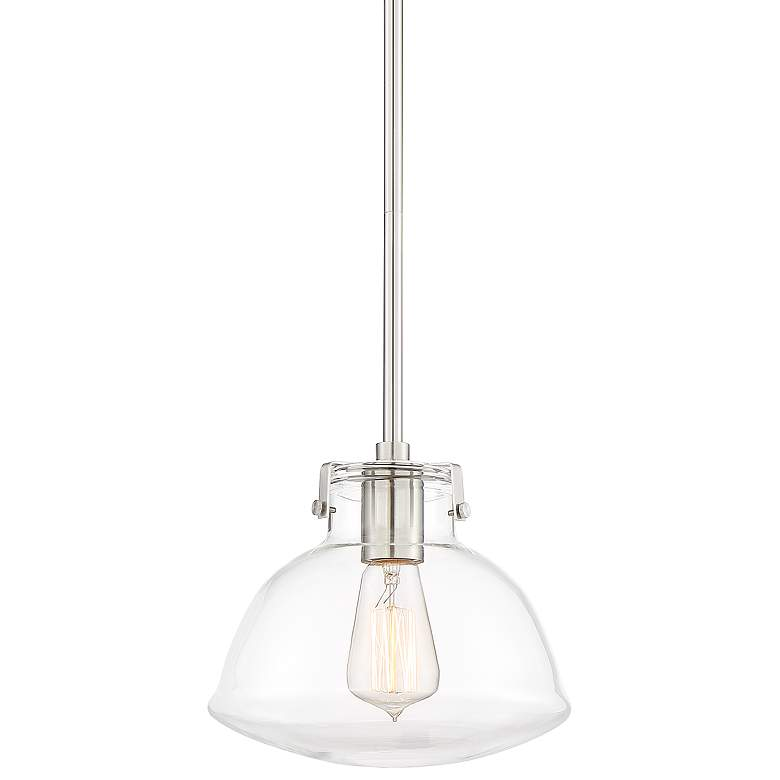 "Possini Euro Bellis 9 1/4"" Wide Brushed Nickel Mini Pendant"