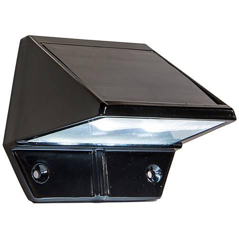 "Canarsie 3 1/2"" Wide Black Outdoor Solar LED Deck Light"