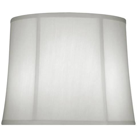 Off-White Silk Shantung Drum Lamp Shade 13x15x12 (Spider)