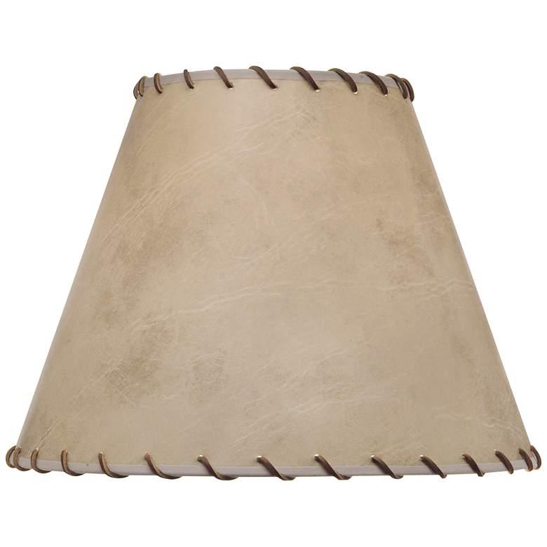 Stiffel Faux Calf Skin Empire Lamp Shade 8x16x12